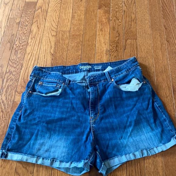 Levi high rise jean shorts